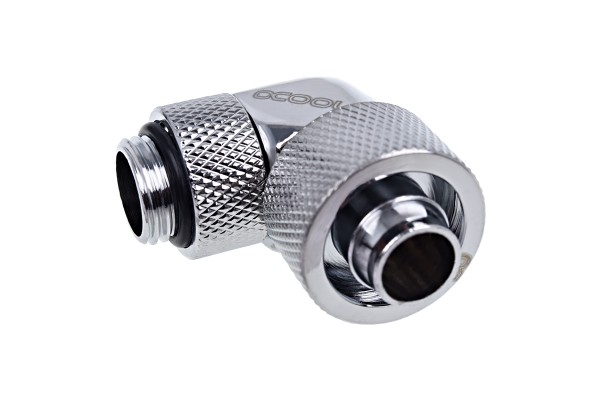 Alphacool Eiszapfen 16/10mm compression fitting 90° rotatable G1/4 - chrome
