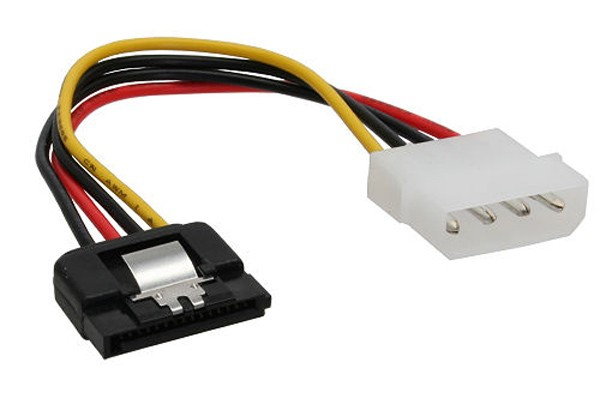 Strom/SATA cable internal 4Pin Molex to SATA 15cm