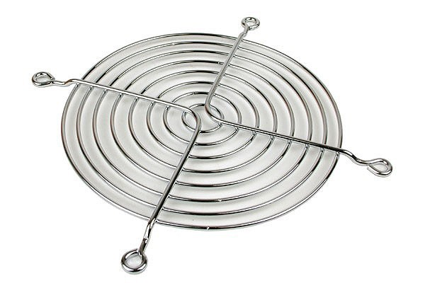 fan grill for axial fans for 120mm chrome