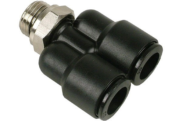 10mm G1/4 Y plug fitting black