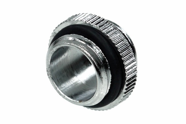 Alphacool double nipple G1/4 outer thread to G1/4'' outer thread with O-ring - Chrome