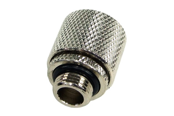 11/8mm (8x1,5mm) compression fitting outer thread 1/8 - knurled silver