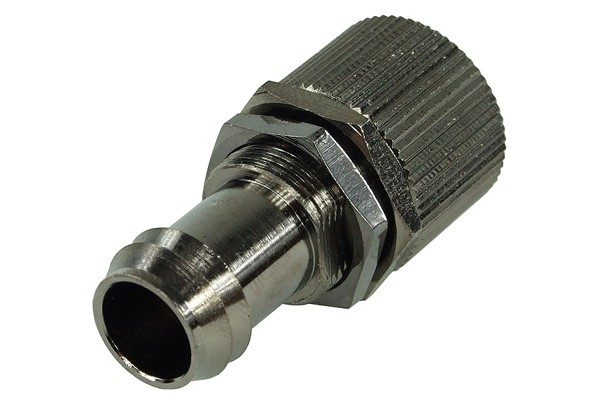 Bulkhead fitting 13mm barbed fitting to 16/13mm compression fitting - black nickel