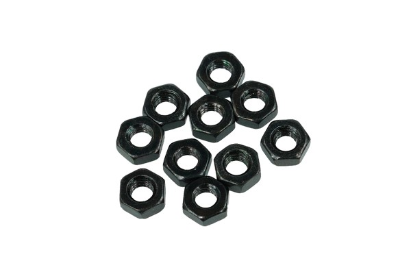 Nut DIN 934 M3 hexagonal head screw black nickel (10pcs)