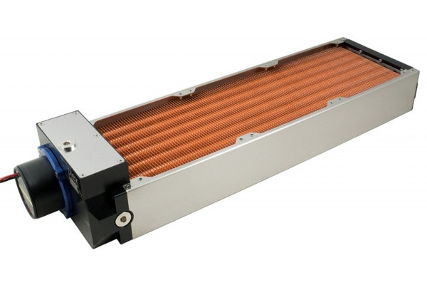 Aquacomputer airplex modularity system 420 mm, copper fins, D5 pump, stainless steel side panels