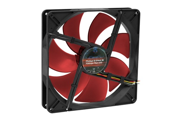 Phobya G-Silent 18 700rpm Red LED ( 180x180x32mm )
