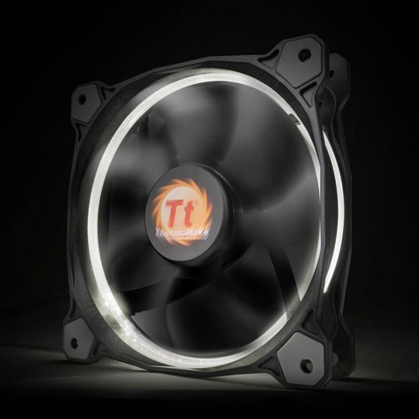 Thermaltake Riing 12 LED white, casefan - (120x120x25mm)