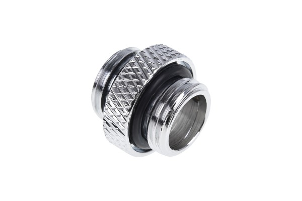 Alphacool Eiszapfen double nippel G1/4 outer thread to G1/4 outer thread - chrome