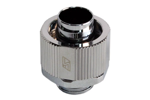 """Swiftech 16/11 (5/8"""" x 3/8"""") compression fitting Lok-Seal G1/4 - chrome"""