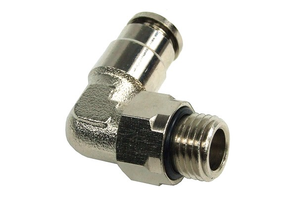8mm G1/4 plug-in fitting 90° revolvable- completely nickel plated