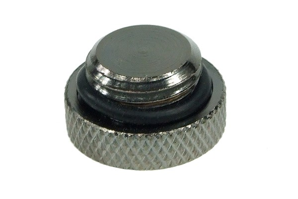 screw-in seal cap G1/4 Inch - knurled – high profile – black nickel